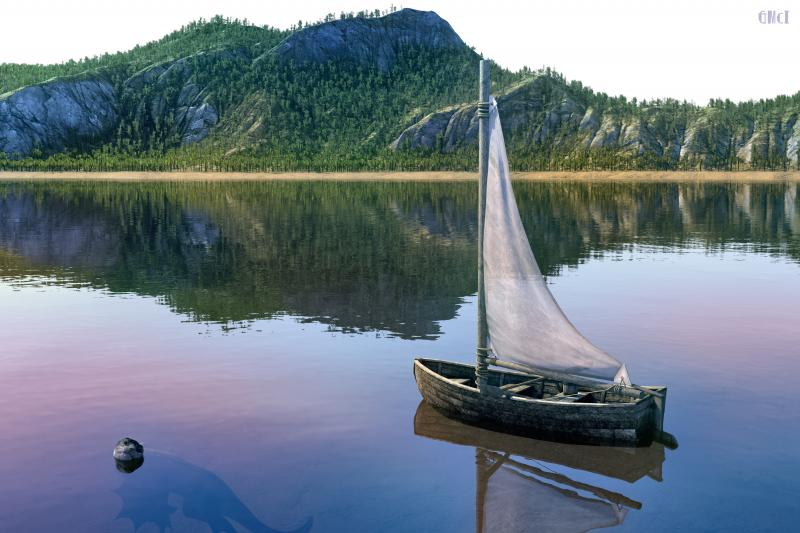 Dinghy on Lake