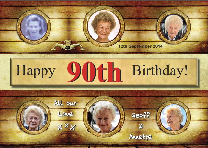 90th Birthday Greetings - 12 September 2014