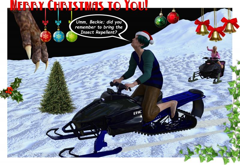 Snowmobile Xmas - Insect Repellent